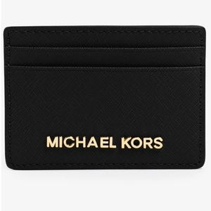 Authentic MK Saffiano Leather card holder